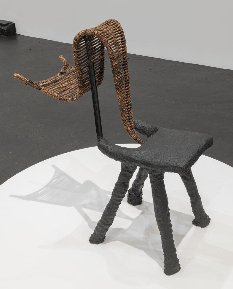 Dozie Kanu Chair IX with attached woven element