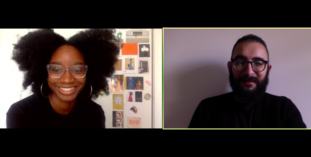 A screenshot of a ZOOM Conference in gallery view, in the left frame, an image of  Amarie Gipson and the right frame an image of Ilk Yasha.