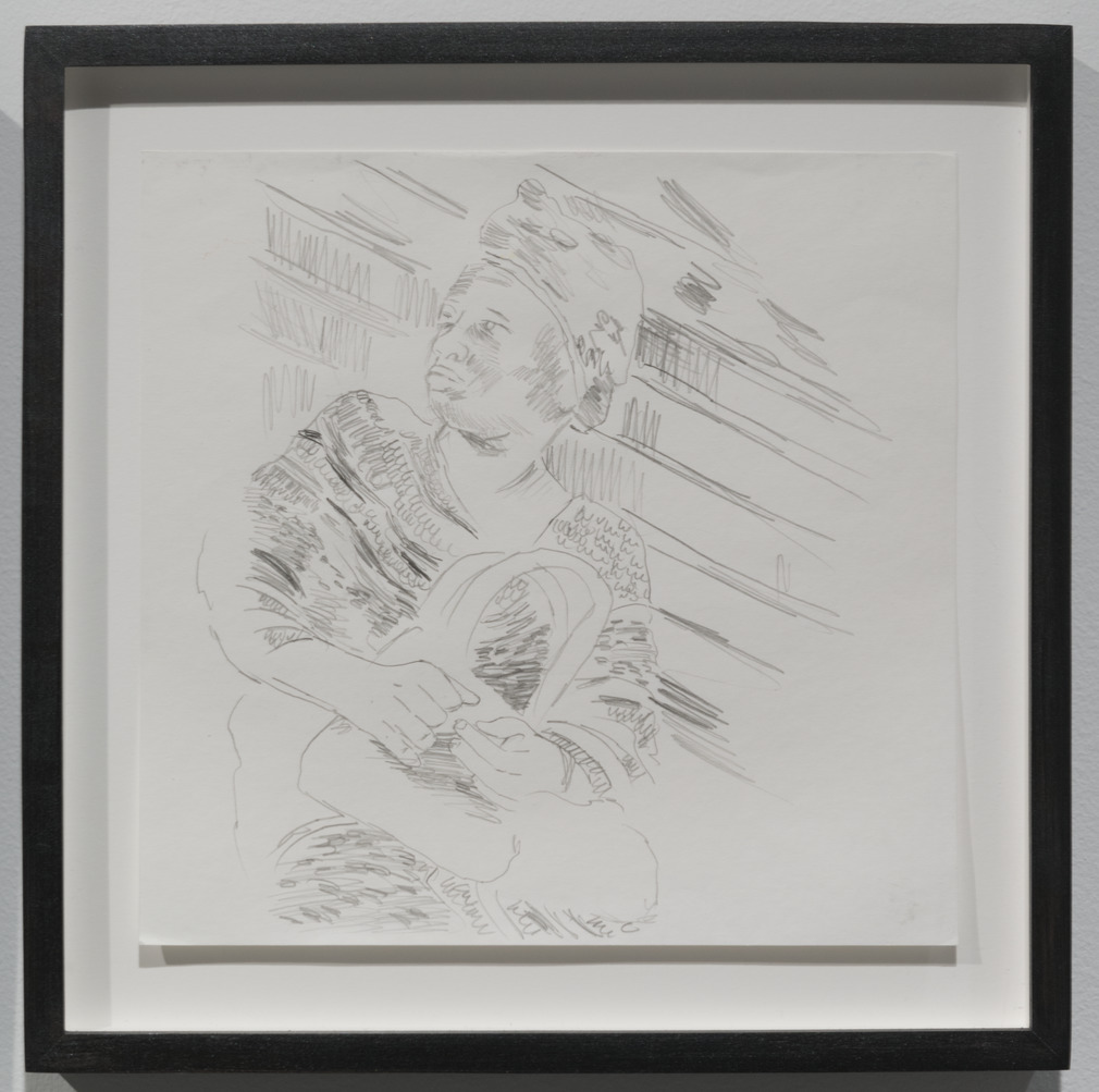 Wardell Milan - Drawings of Harlem: Woman Sitting on 125th Street