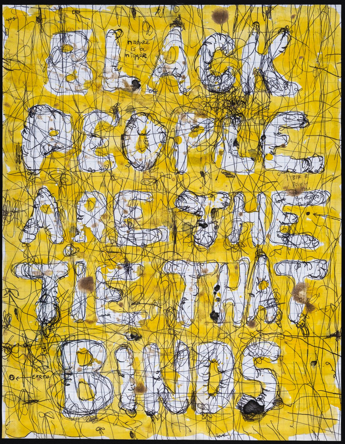 Pope.L - Skin Set Drawing: Black People Are The Tie That Binds