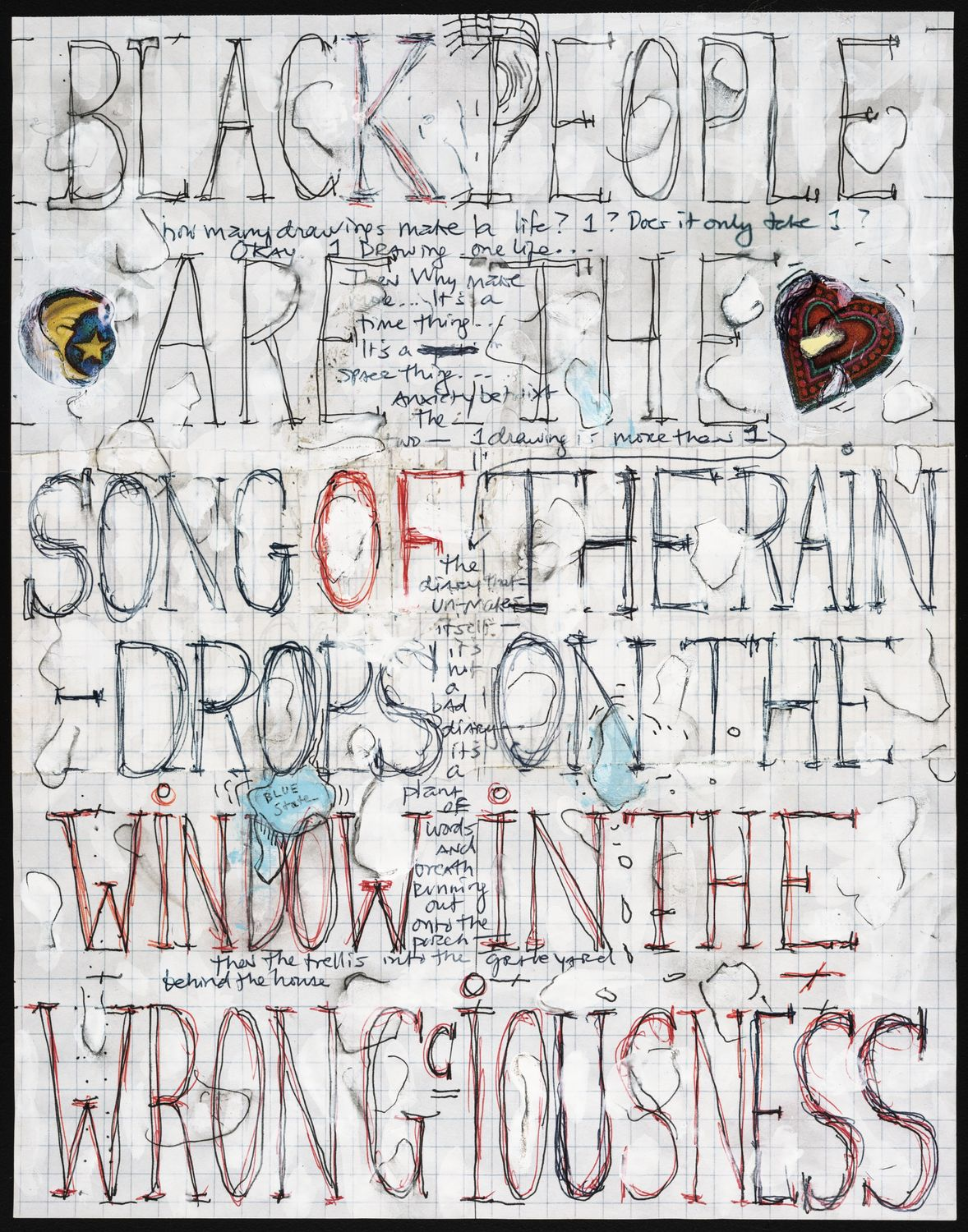 Pope.L - Skin Set Drawing: Black People Are the Song of the Raindrops on the Window on the Wrong'iousness