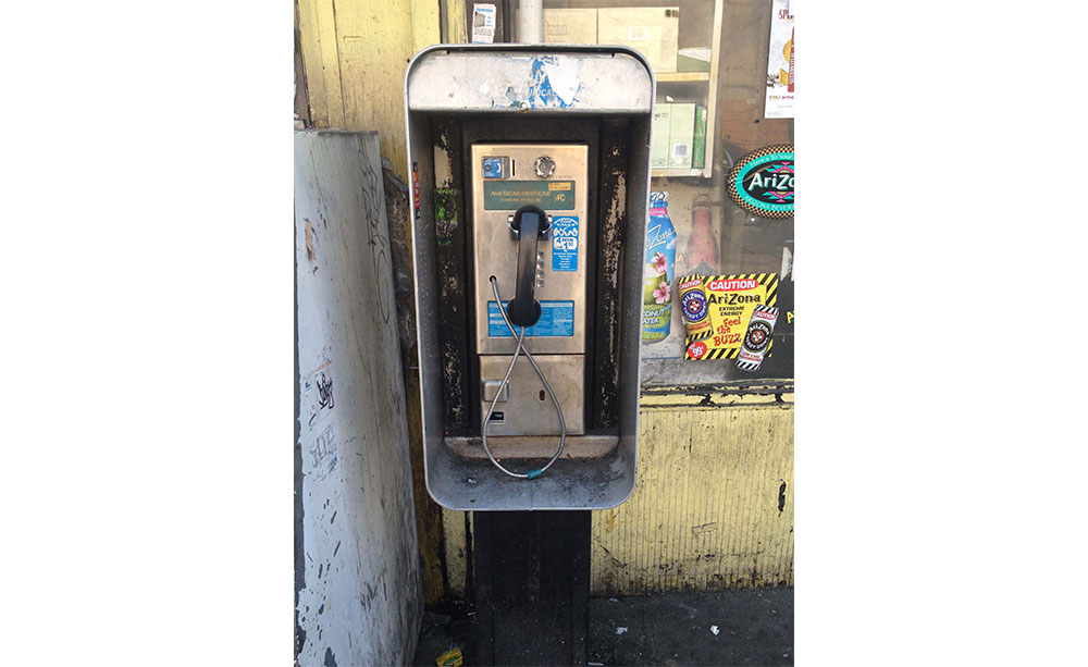 An old pay phone.