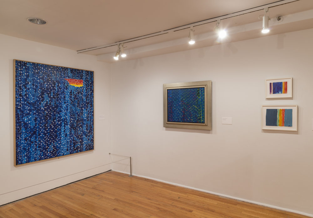 Installation view of Alma Thomas works at the Studio Museum in Harlem