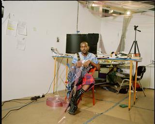 Artist in Residence Elliot Reed in his studio